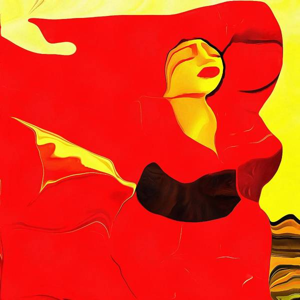 Digital Art - Beautiful Red Acrylic by Catherine Lott