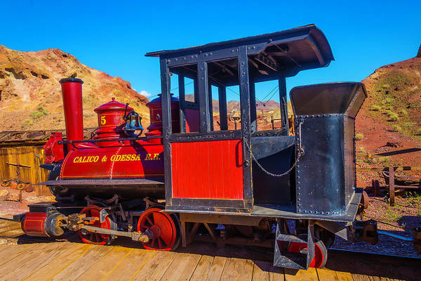 Wall Art - Photograph - Beautiful Red Calico Train by Garry Gay