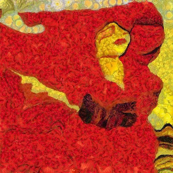 Digital Art - Beautiful Red Mixed Art by Catherine Lott