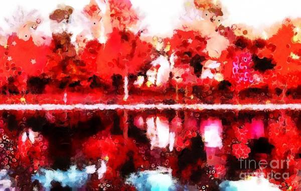 Wall Art - Painting - Beautiful Red Scene Fragmented And Thick Painted by Catherine Lott