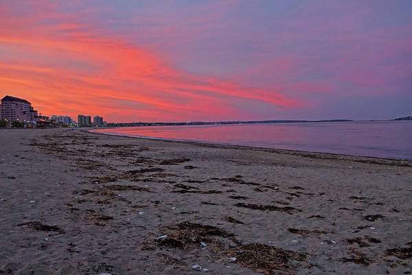 Photograph - Beautiful Red Sunset Over Revere Beach Revere Ma by Toby McGuire