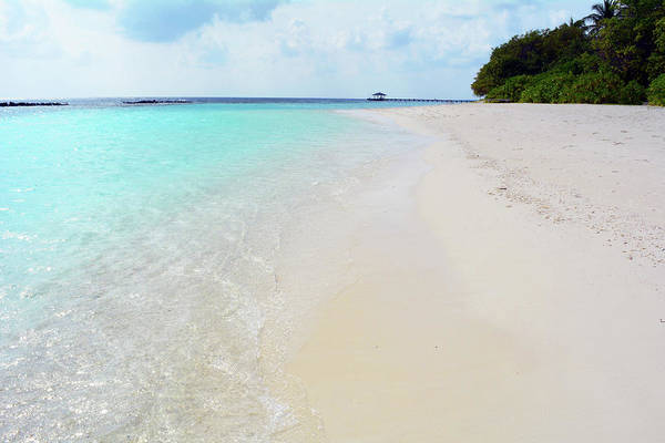 Photograph - Beautiful Relaxing Beach In The Maldives With Turquoise Water by Oana Unciuleanu