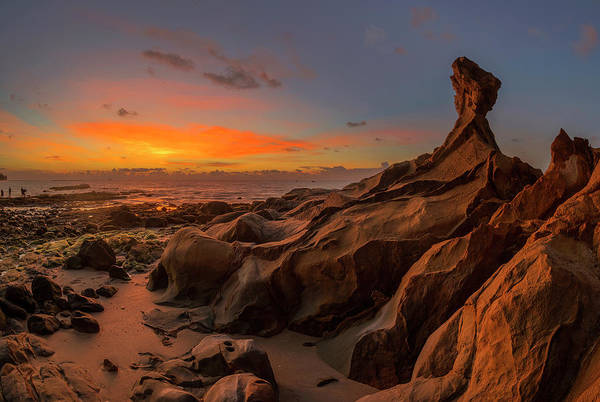 Photograph - Beautiful Rocky Tindakon Beach Sunset View In Kudat Malaysia by Pradeep Raja PRINTS