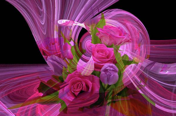 Beautiful Rose Bouquet Montage Art Print