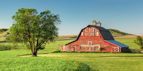 Red Roof Photograph - Beautiful Rural Morning by Todd Klassy
