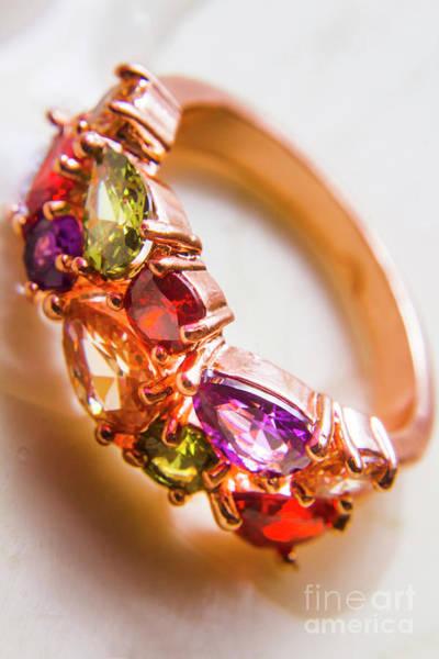 Photograph - Beautiful Sapphire Wedding Engagement Ring  by Jorgo Photography - Wall Art Gallery