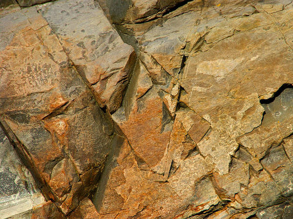 Photograph - Beautiful Scarred Rockface by Lynda Lehmann