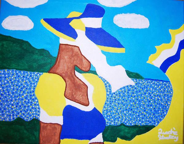 Gullah People Wall Art - Painting - Beautiful Serenity by Quadre' Stuckey