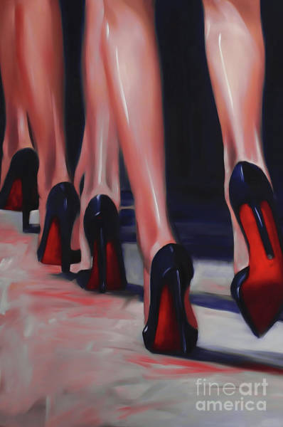 Crossed Legs Painting - Beautiful Sexy Legs Painting  by Gull G