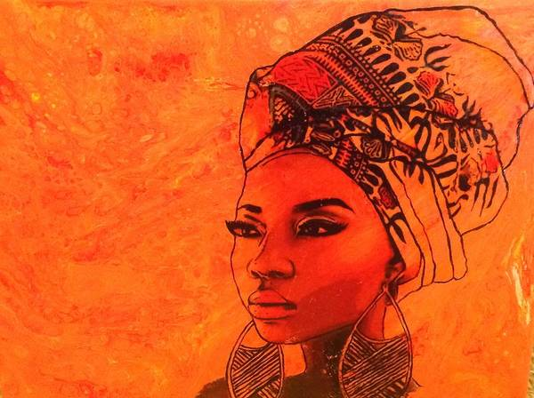 Painting - Beautiful Sista by Karen Buford
