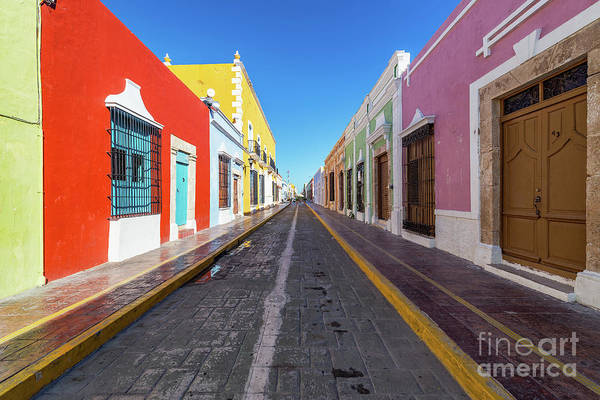 Campeche Photograph - Beautiful Street In Campeche, Mexico by Jess Kraft