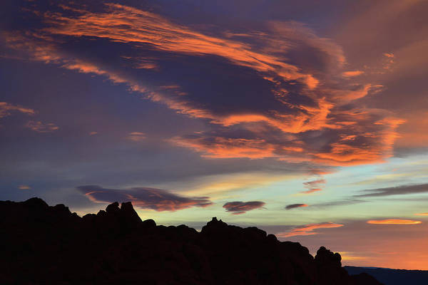 Photograph - Beautiful Sunrise Clouds Over Valley Of Fire by Ray Mathis