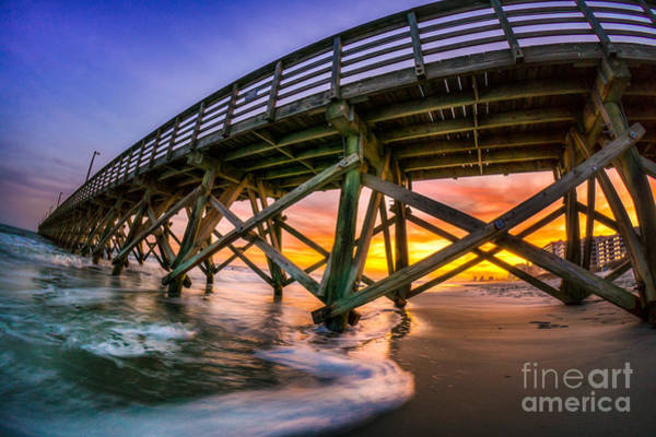 Beautiful Sunset In Myrtle Beach Art Print