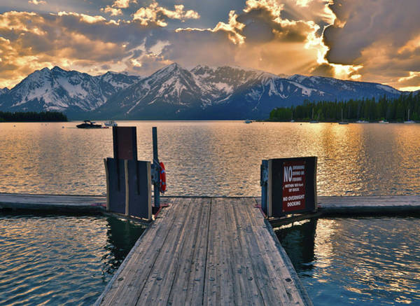 Dock Of The Bay Photograph - Beautiful Sunset On Jackson Lake by Dan Sproul