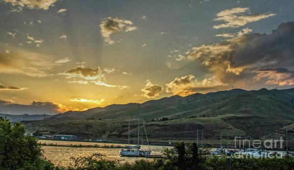 Wall Art - Photograph - Beautiful Sunset Over Clarkston Marina by Robert Bales