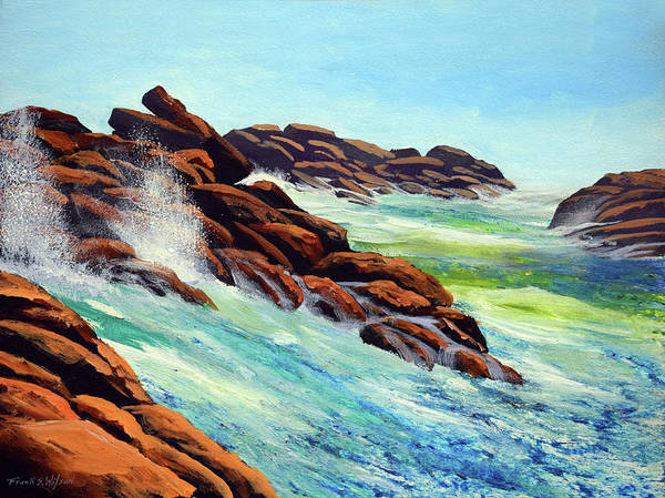 Painting - Beautiful Surf by Frank Wilson