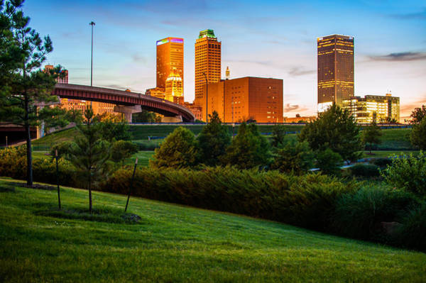 Photograph - Beautiful Tulsa Oklahoma Skyline - Centennial Park by Gregory Ballos