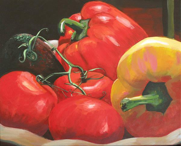 Painting - Beautiful Vegetables by Trina Teele
