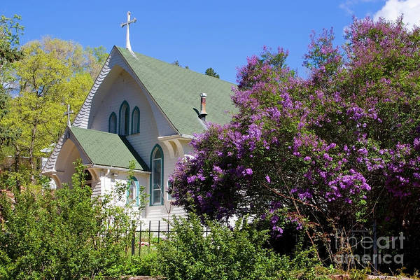 Photograph - Beautiful Victorian Church In Manitou Springs by Steve Krull