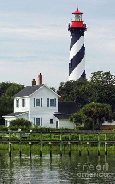 Beautiful Waterfront Lighthouse Art Print
