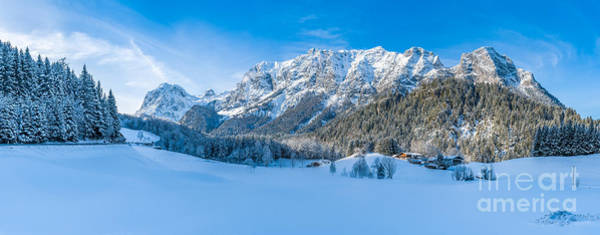 Wall Art - Photograph - Beautiful Winter Mountain Landscape In The Bavarian Alps, Bavari by JR Photography