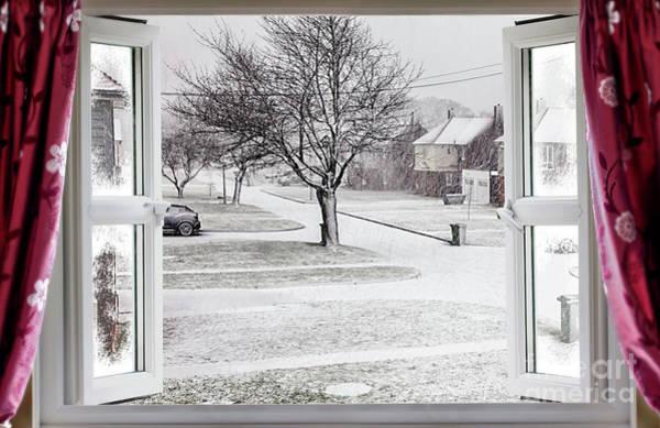 Window Dressing Wall Art - Photograph - Beautiful Winter Scene Through An Open Window by Simon Bratt Photography LRPS