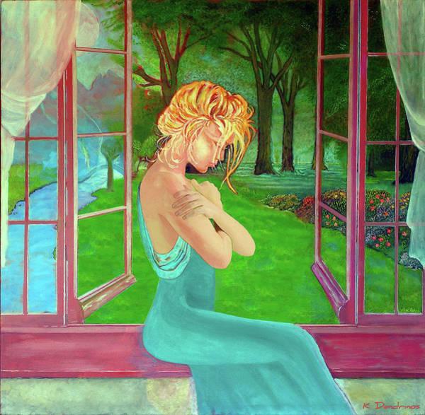 Wall Art - Painting - Beautiful Woman by Kostas Dendrinos
