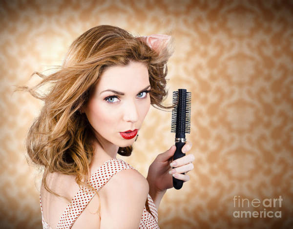 Wall Art - Photograph - Beautiful Woman With Short Red Hair. Hairdressing by Jorgo Photography - Wall Art Gallery