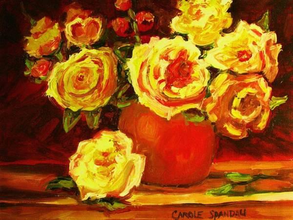 Painting - Beautiful Yellow Roses by Carole Spandau