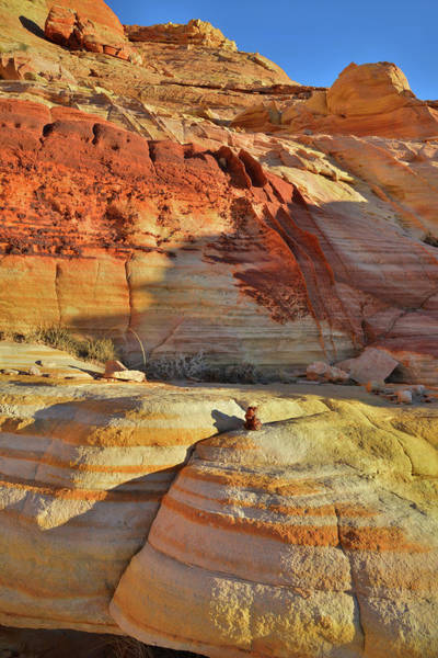 Photograph - Beautifully Colored Sandstone Of Valley Of Fire's Wash 3 by Ray Mathis