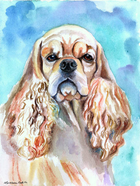 Cocker Spaniel Painting - Beauty - American Cocker Spaniel by Lyn Cook
