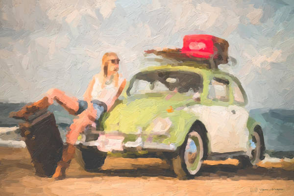 Digital Art - Beauty And The Beetle - Road Trip No.1 by Serge Averbukh