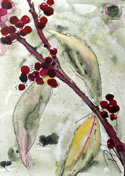 Beauty Berry Branch Art Print