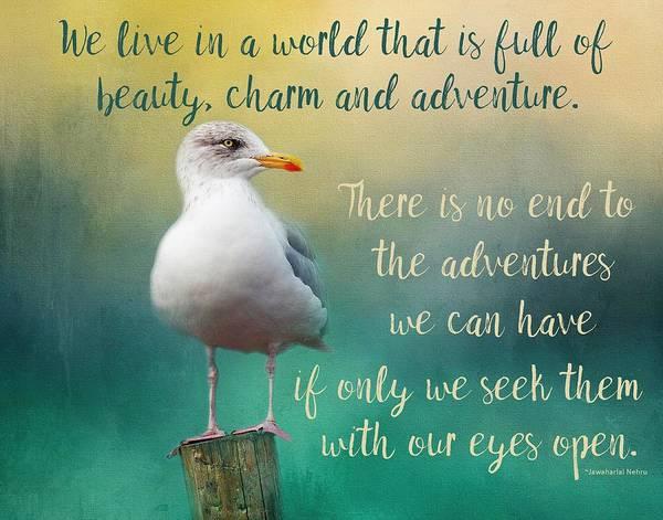 Beauty, Charm And Adventure Art Print