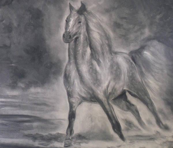 Wa Drawing - Beauty Grace Power by Adrienne Martino