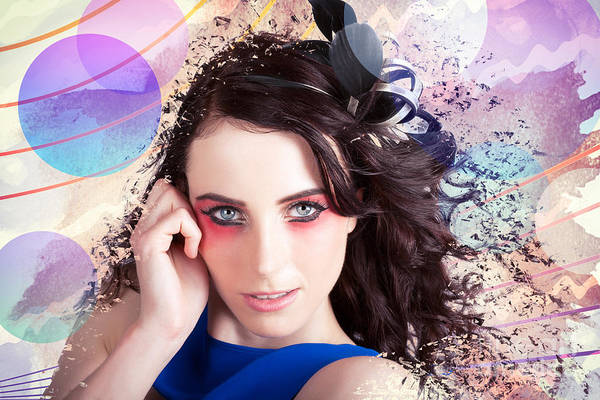 Photograph - Beauty In The Abstract Colors Of Make-up by Jorgo Photography - Wall Art Gallery