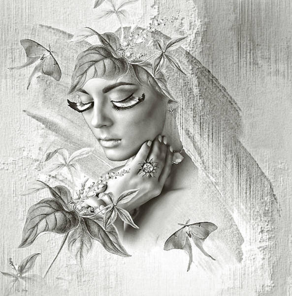 Faded Mixed Media - Beauty Intertwined by G Berry