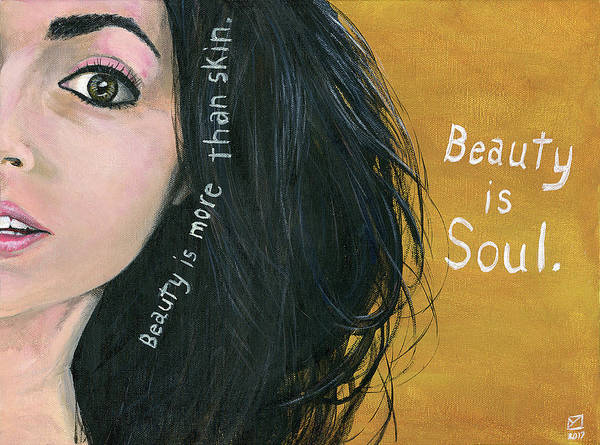 Painting - Beauty Is Soul by Matthew Mezo
