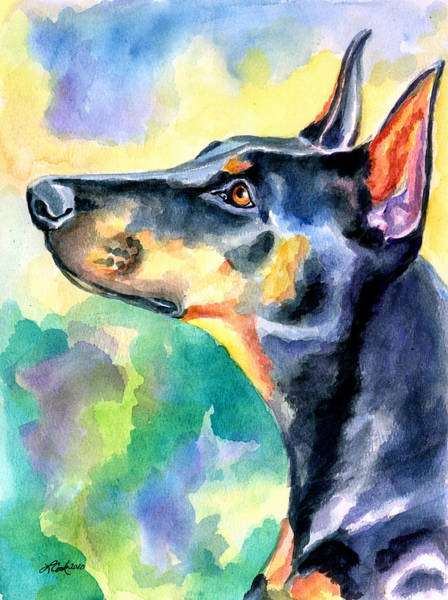 Doberman Wall Art - Painting - Beauty by Lyn Cook