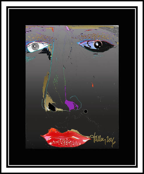 Digital Art - Beauty Mark - Black by Larry Talley