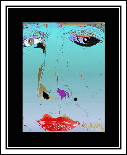 Digital Art - Beauty Mark - Blue by Larry Talley