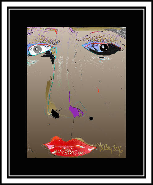 Digital Art - Beauty Mark - Brown by Larry Talley