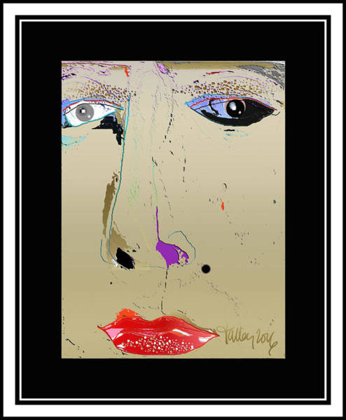Digital Art - Beauty Mark - Gold by Larry Talley