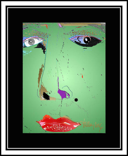 Digital Art - Beauty Mark - Green by Larry Talley