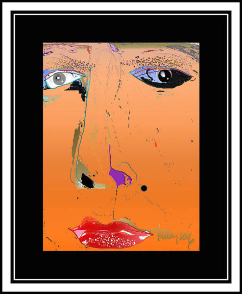 Digital Art - Beauty Mark - Orange by Larry Talley