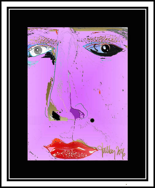 Digital Art - Beauty Mark - Pink by Larry Talley