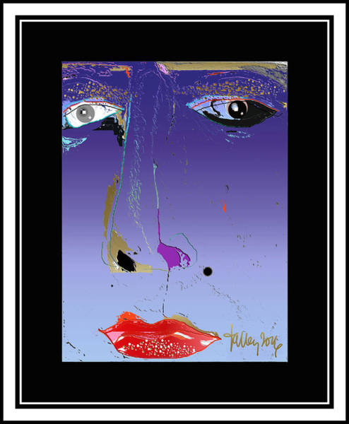 Digital Art - Beauty Mark - Purple by Larry Talley