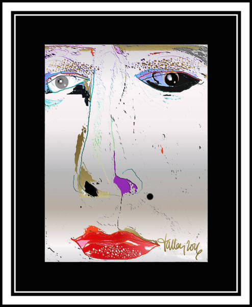 Digital Art - Beauty Mark - Silver by Larry Talley