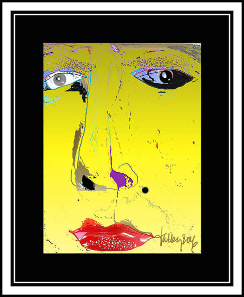 Digital Art - Beauty Mark - Yellow by Larry Talley
