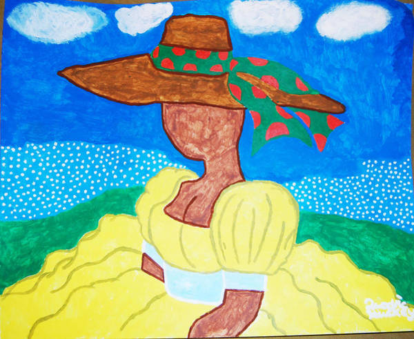 Gullah People Wall Art - Painting - Beauty Of The Moment by Quadre' Stuckey